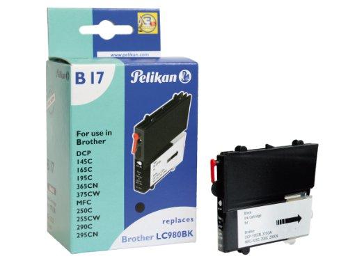Preisvergleich Produktbild Pelikan Druckerpatrone B17 ersetzt Brother LC980BK, Schwarz