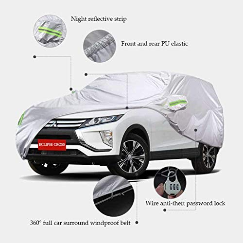 ZXCMNB Car Cover Indoor Und Outdoor Dickes Oxford Tuch Antifouling Sonnenschutz Regen Warme Abdeckung for Mitsubishi Eclipse Cross Modelle (Outdoor-garage-tür-lichter)