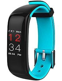 SLH Mujer Pulsera de Actividad Reloj Lnteligente con Pulsómetro Reloj Fitness Podómetro Compatible iOS y Android