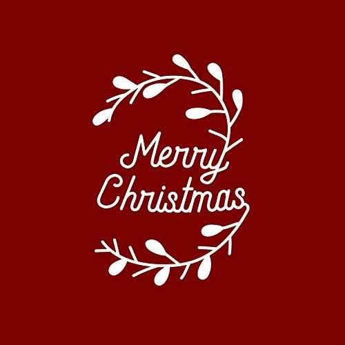 Vinyl-Aufkleber, Aufschrift Thank You, Aufschrift Merry Christmas, 15,2 x 10,2 cm, einzigartiges Geschenk für Partys, Feiertage, Familie, Wiedervereinigung, Mitarbeiter, Anerkennung, Geschenk