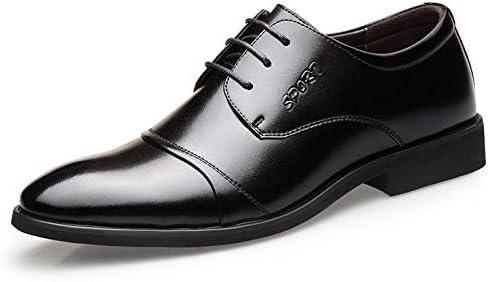 Koyi Zapatos de Cuero de los Hombres nuevos Zapatos de Vestir de Negocios Punta Estrecha con Zapatos británicos...