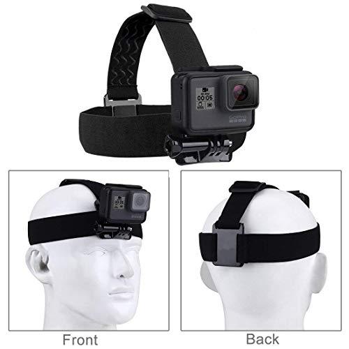 Neuftech Nero Fascia da testa Elastica Regolabile per fotocamera// videocamera GoPro 1//2//3//4+