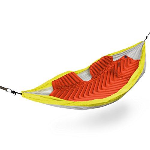 Klymit Aufblasbare Outdoor Campingmatte Luftmatratze isoliert Hängematte V Sleeping Pad, Red/Zeichen, schwarz -