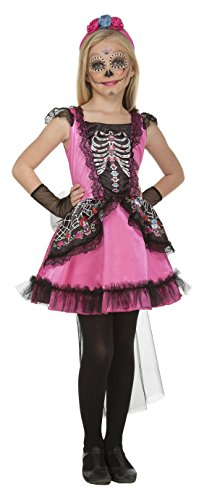 My Other Me Me-204001 Disfraz Damisela esqueleto para niña, 7-9 años (Viving Costumes 204001