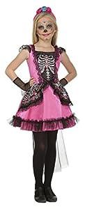 My Other Me Me-204000 Disfraz Damisela esqueleto para niña, 5-6 años (Viving Costumes 204000