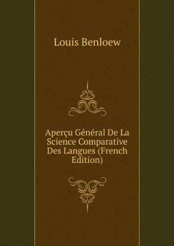 aperau-gacnacral-de-la-science-comparative-des-langues-french-edition