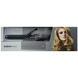hair tongs - 41lHb2EzKaL - Babyliss Pro Ceramic Dial A Heat Hair Tongs with 25 Heat Settings Curler Wand (BLACK)
