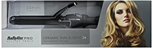 Babyliss Pro Ceramic Dial A Heat Hair Tongs with 25 Heat Settings Curler Wand (BLACK)