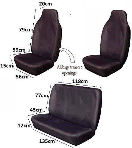 Full Set Custom Sitting Covers 100% Nylon Black Seat Quilt Protectors