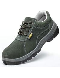 Zapatos de seguridad Calzados protectores para hombres transpirables y desodorantes, zapatos de PU anti-