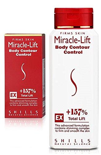 Miracle-Lift Body Contour Control (+157% Total Lift) - 250ml | Hochwertige Anti-Cellulite Körperlotion mit hocheffektiven Wirkstoffen für eine schöne Silhouette | Hervorragende Qualität| Geld-zurück-Garantie | 100% Risikofrei | Enthält hochwertiges Peruanischer Uncaria, L-Carnitin, Koffein, Kieferrinde, Aescin, Vitamin C und Algenextrakt | Dient zur nachweislichen Anti Cellulite Behandlung, Feuchtigkeitspflege & Bekämpfung von Fettansammlung & Dehnungsstreifen