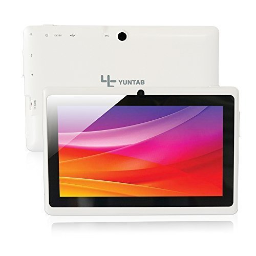 Yuntab Q88 Tablet de 7'' (WiFi, Quad-Core, Android 4.4.2 KitKat , HD 1024x600, 32 GB, 8GB ROM, Doble Cámara, Google Play) Color blanco