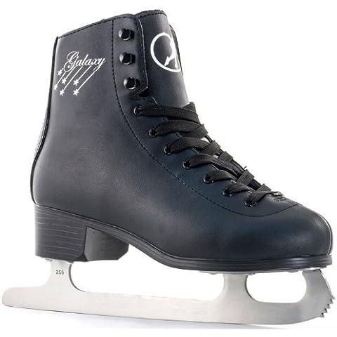 Sfr Galaxy - Patines de hielo para patinaje artístico negro negro Talla:UK 8 EU42 US9