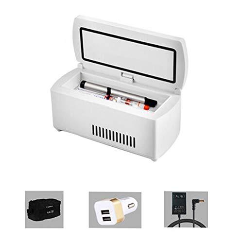 Refrigerador De Insulina PortáTil Medicina DoméStica Refrigerador Mini Refrigerador Pantalla LCD 2-18...