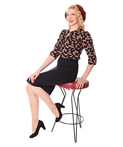 SugarShock Peppina Rockabilly 50s Pin Up retro Pferde Shirt 3/4 Arm Bluse -