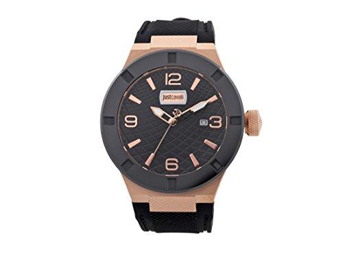 Just Cavalli Reloj Analógico para Hombre de Cuarzo con Correa en Caucho JC1G017P0045