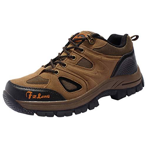 ITCHIC Coppia di Scarpe Sportive All'Aperto Scamosciate Piatte Sneakers da Alpinismo Traspiranti Allacciate Coppia Scarpe da Corsa per Alpinismo in Pizzo Scamosciato 36-48