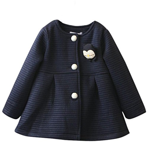 Creeper Kostüme Der (Janly Herbst Winter Kinder Jacken Baby Single Breasted Kind Mantel Mädchen Outerwear Jacken für Mädchen Bow Girl Clothes (Höhe: 80-90CM,)