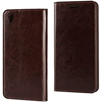 sports shoes 4a0bf c5ddb Excelsior Premium Genuine Leather Wallet Flip Cover Case for Oppo F1 Plus -  Coffee