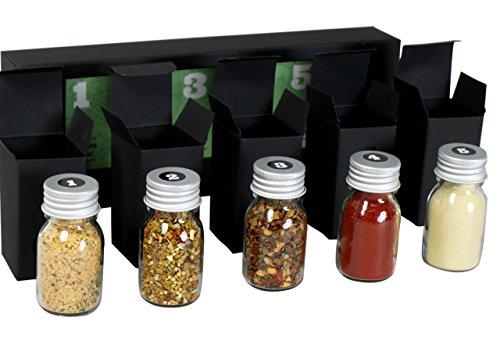 Gewürzset Vegan - Die perfekte Geschenkidee für Geniesser - das ideale Weihnachtsgeschenk - Kräuter - und Gewürzmischungen mit Rezepten zum Nachkochen - vegane Küche - veganes Geschenkset - 3