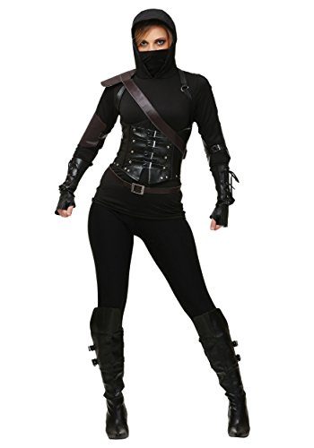 Fun Costumes Ninja Assassin Kostüm für Damen - S (Ninja Assassin Kostüm)