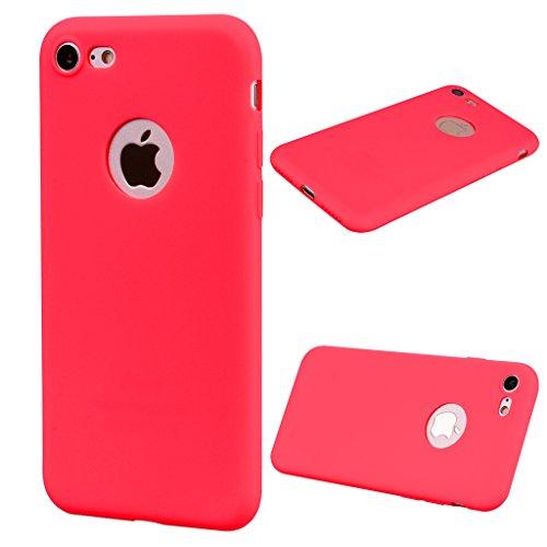 """Hülle für Apple iPhone 7 / 8 , IJIA Rein Grün TPU Weich Handytasche Silikon Stoßkasten Handyhülle Cover Schutzhülle Schale Case Tasche für Apple iPhone 7 / 8 (4.7"""") Red"""