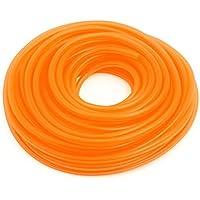 sourcingmap Coche Silicona Naranja Tubo de Vacío Gasolina Manguera 18M 8MM 4MM