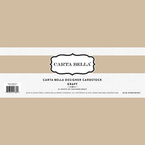 Carta Bella Paper Company Kraft Cardstock, 80 lb by Carta Bella Paper