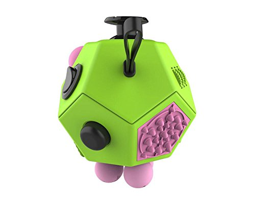 Fashion Fidget Cube 2 toy with Active Rocker Fidget Cube II Anxiety Stress Relief Focus 12 sides Dice for Adults Children Gadget (Blue) - 6
