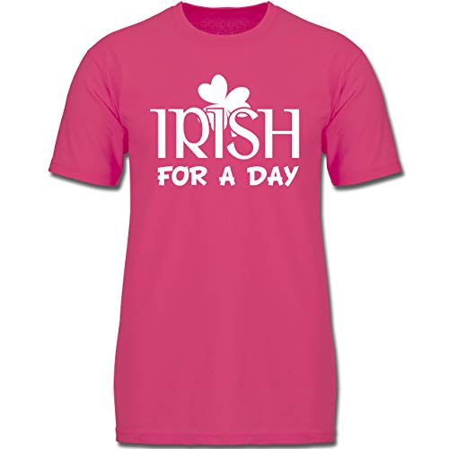 Anlässe Kinder - Irish for A Day St Patricks Day - 128 (7-8 Jahre) - Fuchsia - F130K - Jungen Kinder T-Shirt