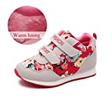 KVbaby Winterschuhe Mädchen Warm gefütterte Sneaker Kinder Outdoor Warme Turnschuhe Blume Schuhe Wanderschuhe Rutschfeste
