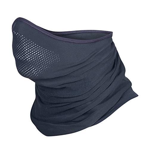 Brubeck® X-Pro Halbe Sturmhaube | Klimaregulierend | Gesichtsmaske | Sturmmaske | Funktionskleidung | Atmungsaktiv | Anti-allergisch | Antibakteriell (Dunkelgrau, S - M) -