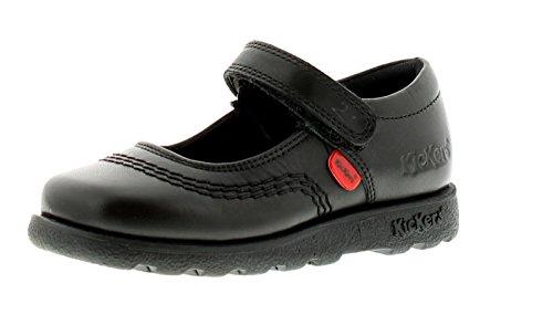 New Younger Girls/Childrens Black Kickers Fragma Pop Shoes - Black - UK...