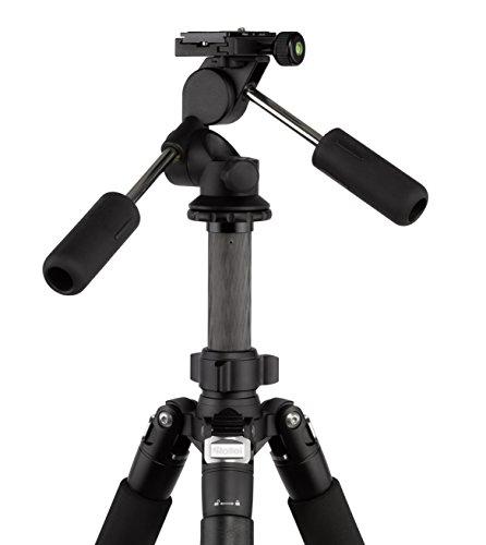 Rollei Rock Solid Dreiwegeneiger L - extrem leichter Aluminium Stativkopf, präzise Einstellung, ArcaSwiss kompatibel - schwarz