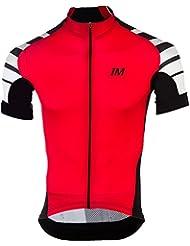 Immortal Sports estiloso manga corta con estilo ciclismo Jersey (5 colores) y pantalones de ciclismo (blanco negro)