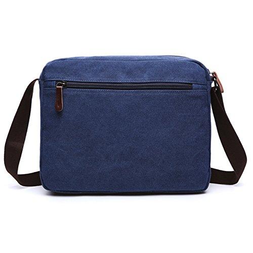 ... Outreo Borsa a Tracolla Borsa a Spalla Uomo Vintage Messenger Bag  Sacchetto di Tela Borsello per ... ab893cfd426
