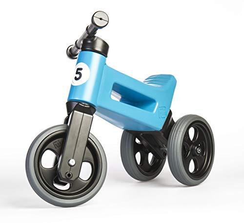 FUNNY WHEELS Balance Bike Fahrrad Pushbike Rutschfahrzeug Dreirad Laufrad mit Leise Laufräder Rutscher für Kinder ab 1 Jahr bis 4 Jahre für Jungen und Mädchen Sitz höhenverstellbar Tragfähigkeit 50kg