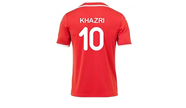8208cfa1b 2018-2019 Tunisia Away Uhlsport Football Soccer T-Shirt (Wahbi Khazri 10):  Amazon.co.uk: Sports & Outdoors