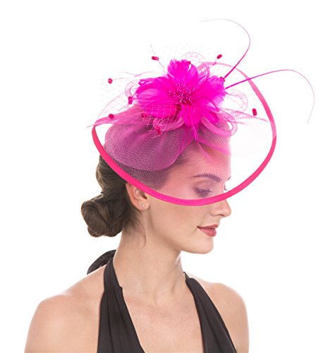 Lucky Leaf Women Girl Fascinators Hair Clip Hairpin Hat Feather Cocktail Wedding Tea Party Hat and Hairband for Women