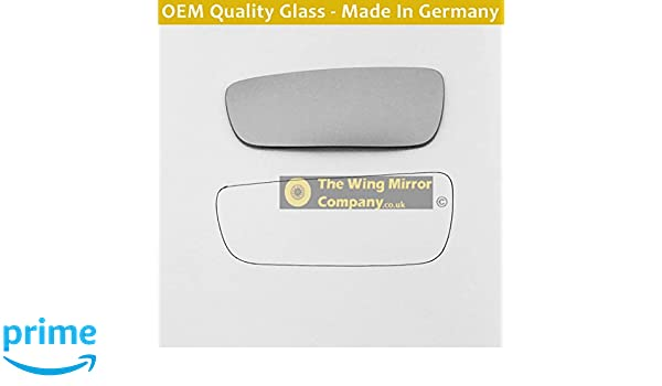 PE407 2004 to 2008 Silver Wing Mirror Glass LH Passenger Side