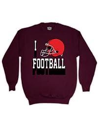 I Love de casco de fútbol americano de balón de fútbol infantil con forma de el sudor-camiseta de manga corta