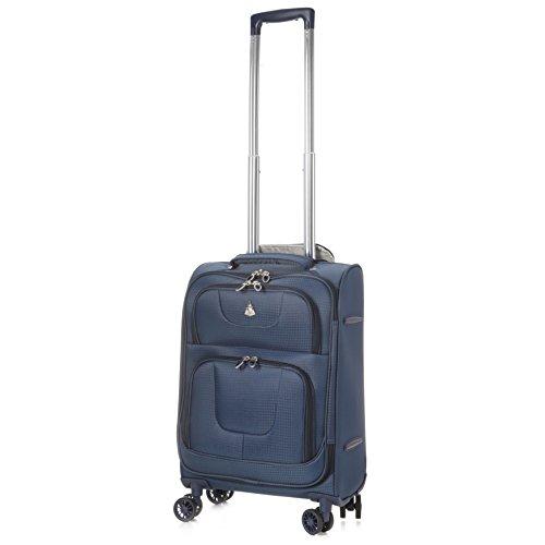 Aerolite Super Lightweight 8 Wheel Spinner Luggage Suitcase Travel Trolley Cases (Navy, 21″ Cabin + 26″ + 29″, 3 Piece Set)