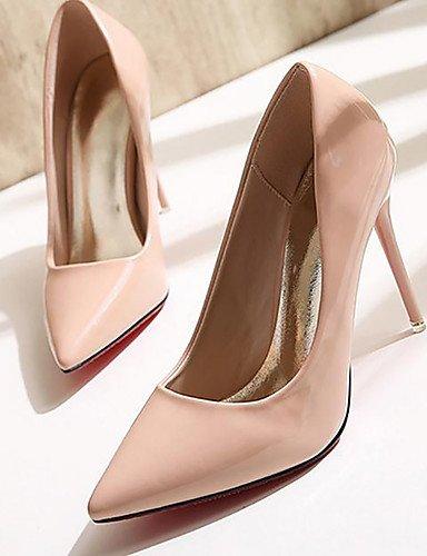 WSS 2016 Chaussures Femme-Habillé-Noir / Rouge / Amande-Talon Aiguille-Talons / Bout Pointu / Bout Fermé-Talons-Similicuir almond-us6.5-7 / eu37 / uk4.5-5 / cn37