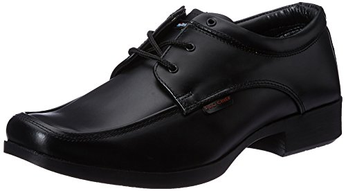 Red Chief Men's Black Leather Formal Shoes - 8 UK/India(42 EU)(RC1610)