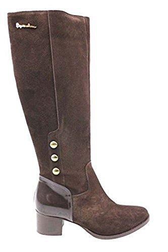 scarpe donna BRACCIALINI 37 stivali marrone pelle camoscio AN28-E