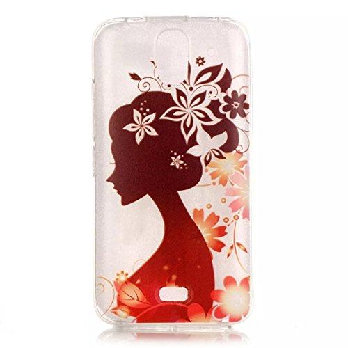 Preisvergleich Produktbild KSHOP HandyHülle für Huawei Y360 Case Cover TPU Silikon Schutz Schutzhülle Hülle Handytasche schlank Stoßfest - Schöne Frau