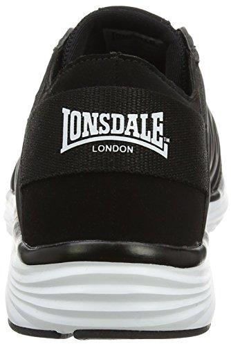 Lonsdale Peru, Chaussures de Running Compétition Homme Noir (noir/blanc)