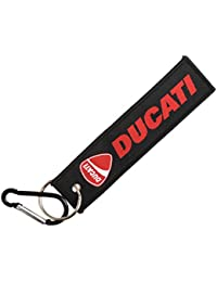 Techpro Premium Quality Cloth Locking Keychain With Doublesided Ducati Design