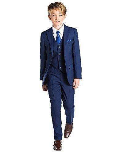 Paisley of London, Anzug für Jungen, Kombination für Schulball, Dreiteiler, 12-18Monate-13Jahre, Blau Gr. 5 Jahre, blau - Paisley-hosen-anzug