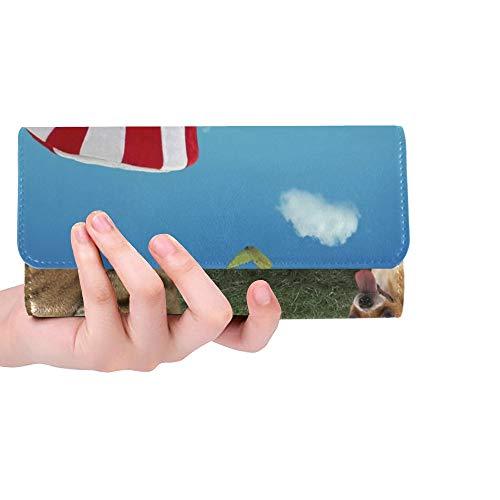 die amerikanische patriotische Hut-Bogen-Frauen-dreifachgefaltete Geldbörse-Lange Geldbeutel-Kreditkarteninhaber-Fall-Handtasche trägt ()